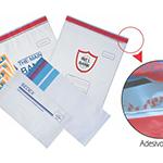 Envelopes plásticos leitosos