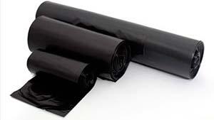 Bobina de plástico preto