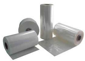 Bobina de plástico transparente