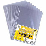 Envelopes plásticos quatro furos